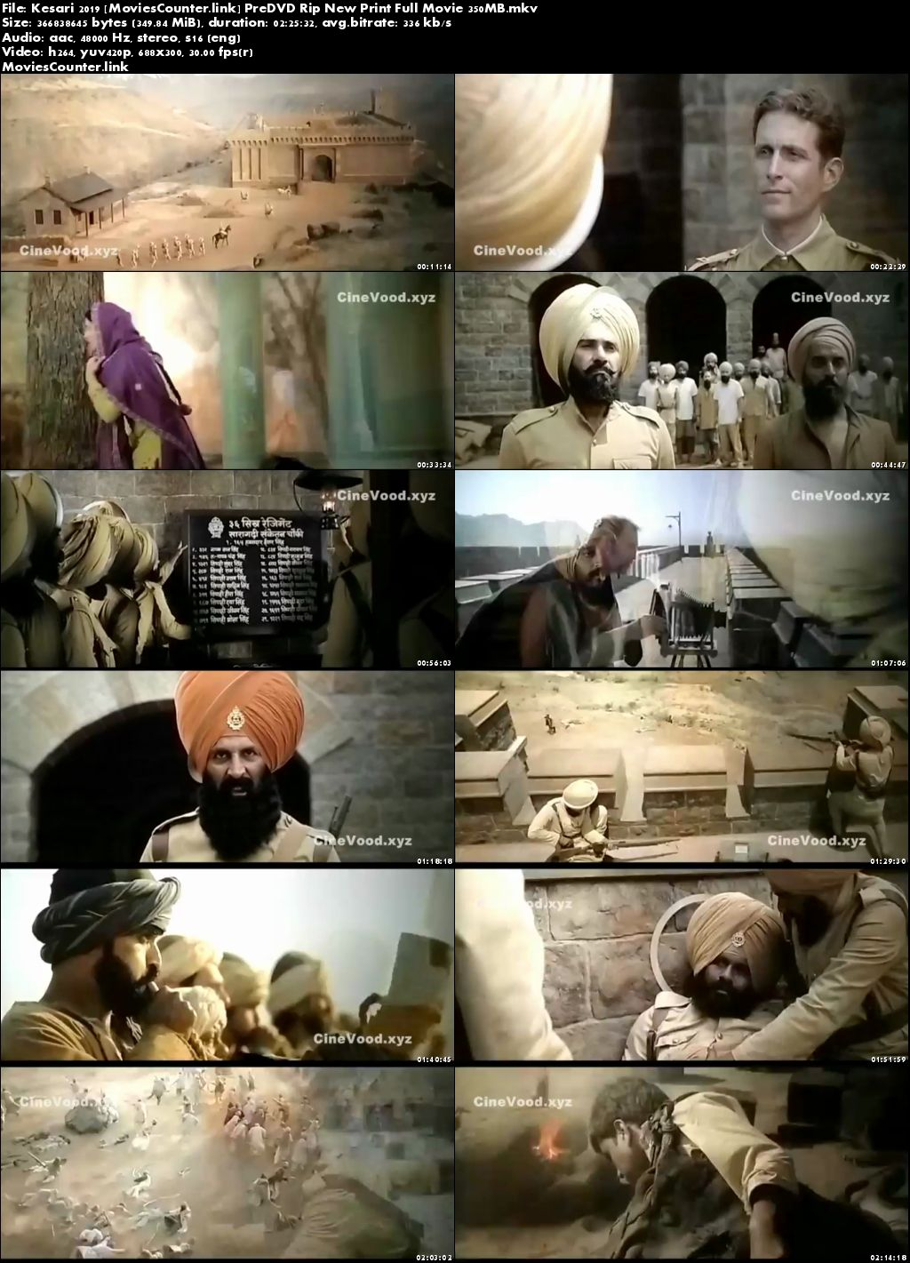 Screen Shots Kesari 2019 Hindi HD 300MB