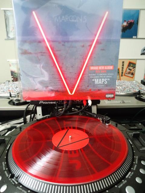 Maroon5のレコードの写真です。