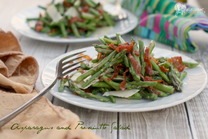 Asparagus and Prosciutto Salad with Lemon Vinaigrette
