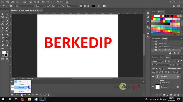 Cara membuat tulisan berkedip format gif di photoshop + video