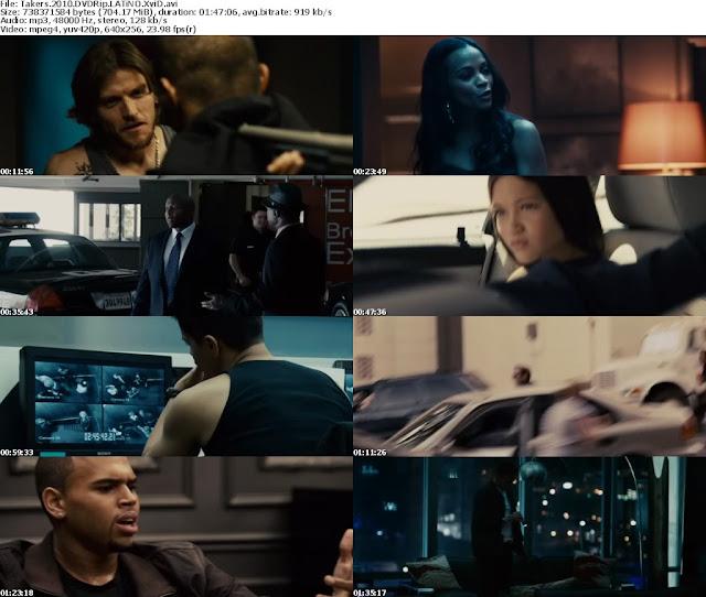Ladrones [Takers] Español Latino BlueRay Descarga 1 Link [2010]