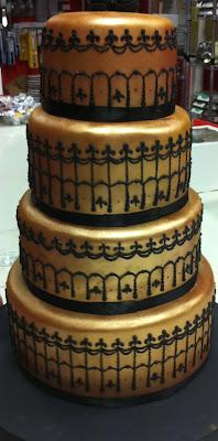 tarta de boda dorada loleta linares blog mi boda gratis