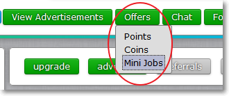 how to start mini jobs in NeoBux