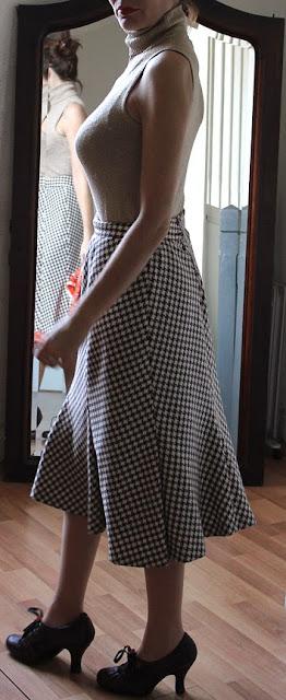 les dedees vintage recup creations ma petite jupe annees 50 a carreaux by ben. Black Bedroom Furniture Sets. Home Design Ideas
