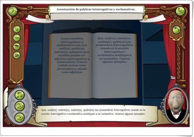 """""""Acentuación de palabras interrogativas y exclamativas"""" (Aplicación de Lengua Española)"""