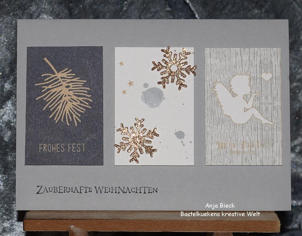 Stylische Weihnachtskarten.Bastelküken Weihnachtskarten Mit Renke Papier