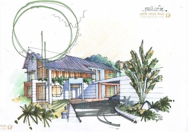 Thiết kế biệt thự với cách chia không gian đầy bất ngờ ở Hà Nội