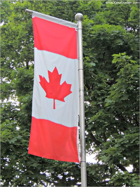 Bandera de Canadá en las Islas de Toronto