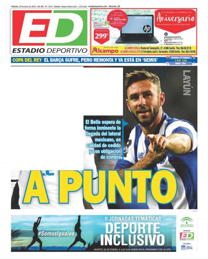 "Betis, Estadio Deportivo: ""A Punto"""