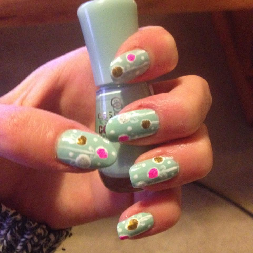 Pinterest Inspired Colorful Nail Art Tutorial Ornaments Or Flowers