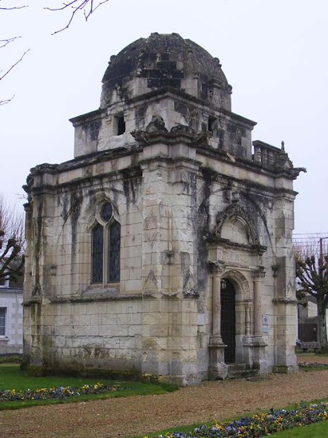 16C funerary chapel, Blere.  Indre et Loire, France. Photographed by Susan Walter. Tour the Loire Valley with a classic car and a private guide.