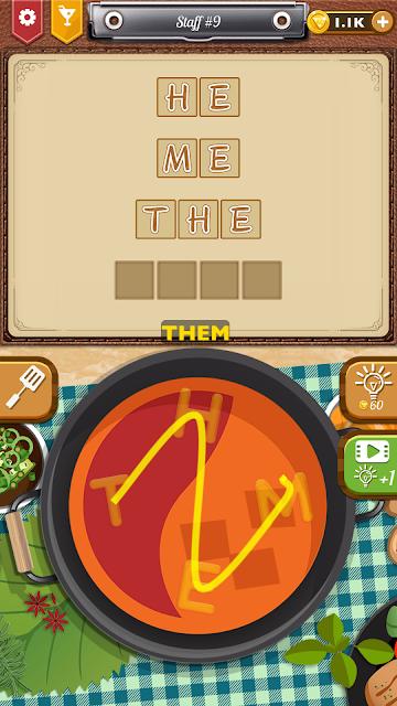 Word Culinary Journey Staff 9 (Nutmeg) Answers, Cheats, Solution