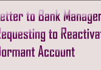 Application Letter Format to Bank Manager to Issue New ATM Card