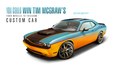 You could win Tim McGraw's Four Wheels to Freedom Custom Car