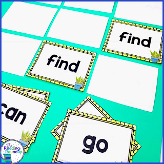 Sight word practice is essential for students in kindergarten, 1st, and 2nd grade. Students can play this fun and FREE sight word Memory Match game with flash cards.