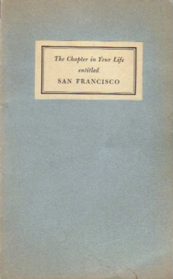 The Chapter In Your Life Entitled San Francisco Lyrics