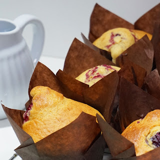 Muffins de Yogur con Frambuesas