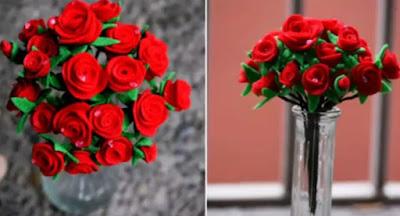 Cara Membuat Buket Bunga dari Kain Flanel