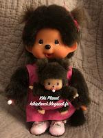 Monchhichi Maman avec Bébé Rose 236200