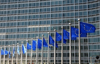 European Union Flags in European Event