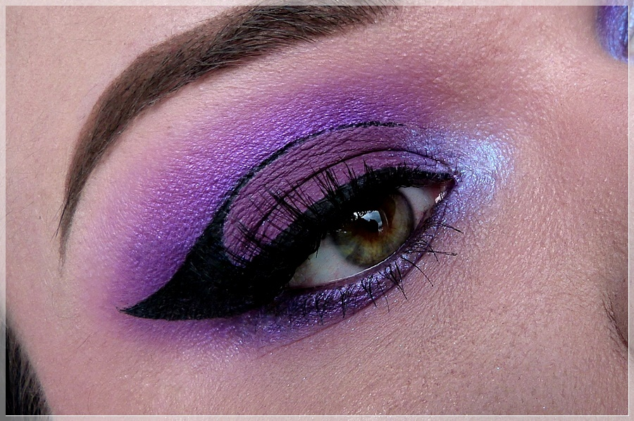 ultra violet graphic liner makeup