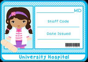 Clipart de Nenas Jugando a ser Doctoras como la Doctora Juguetes.
