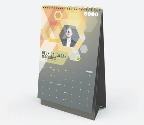 Mockup PSD Kalender 2019 Terbaru - Vertical Desk Calendar Mockups