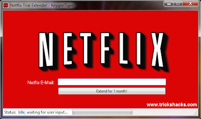 THIS IS FREE HACK NETFLIX ACCOUNTS VALIDITY EXTENDER 2013 SCREENSHOT