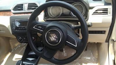 2017 Maruti Suzuki Dzire stearing wheel