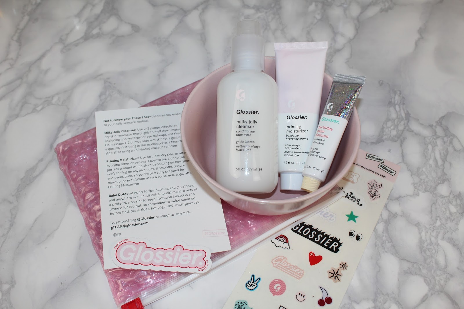 Glossier Phase 1 Set Review and Photos - Glossier Milky Jelly ...