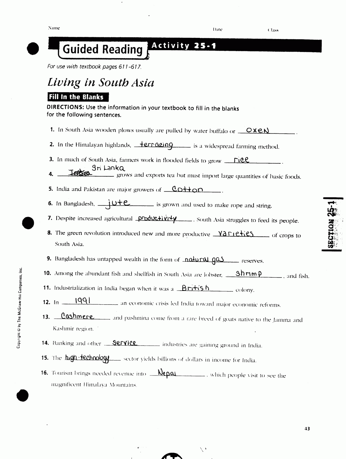 Chapter 25 Section 4 Guided Reading Answers