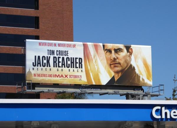 Jack Reacher Never Go Back billboard