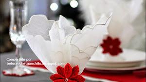 Servilletero flor de Navidad