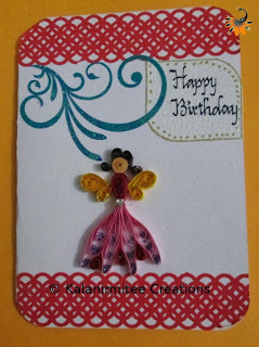 kalanirmitee: paper quilling-quilling for kids-handmade card