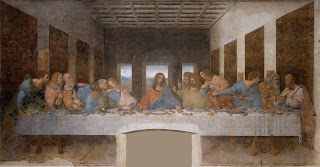 The Last Supper is painted on the walls of Milan's Santa Maria delle Grazie