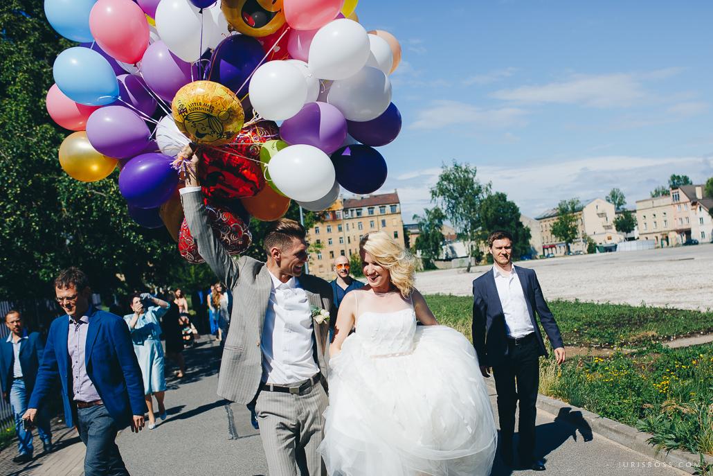 baloni kāzās reportāža