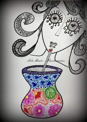 ilustraciones, ilustracioneslolalamento, Lola Mento, mate, regalos creativos, regalos originales, zentangle,