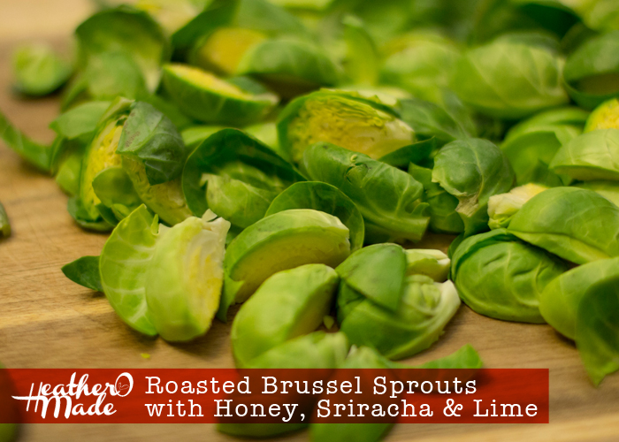 Roasted Brussel Sprouts with Honey, Sriracha and Lime recipe
