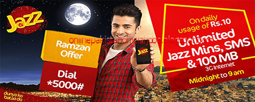 Jazz Offers Unlimited Minutes, SMS and 100MBs of Internet