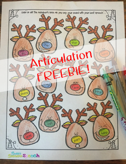 Christmas Articulation Activity - Free Download!