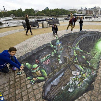 Ninja Turtles 3D painting