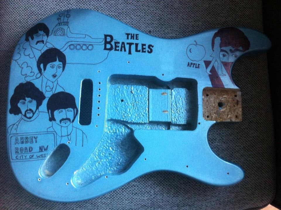 South Shields Guitar Lessons Customized Beatles Guitar