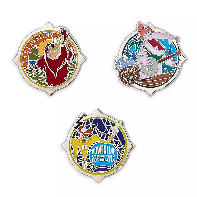 D23 Exclusive Pin Set - A Goofy Movie 25th anniversary Gold Members