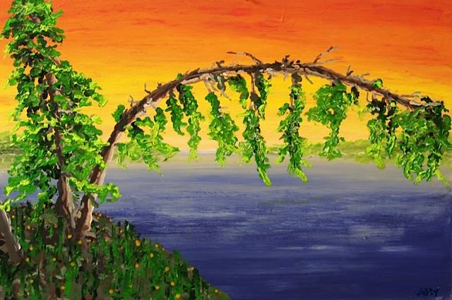 a painting of trees describing being separated
