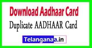 Download Aadhaar Card Online EAADHAAR Card Download - Duplicate AADHAAR Card