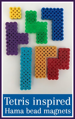 Tetris Hama bead magnets tutorial