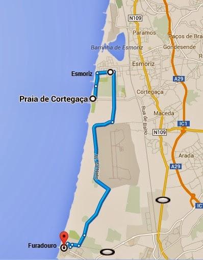 mapa de cortegaça BikeRide e Caminhadas: PASSEIO BIKE DE CORTEGAÇA AO FURADOURO mapa de cortegaça