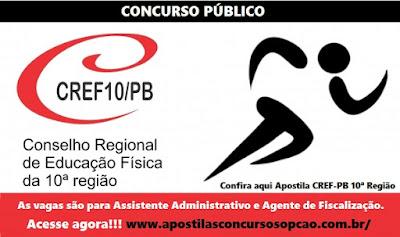 Apostila concurso Conselho Regional de Educação Física da Paraíba - CREF10ª Região