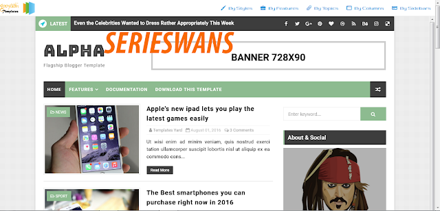 Download Template Alpha Blogger Responsive Terbaru