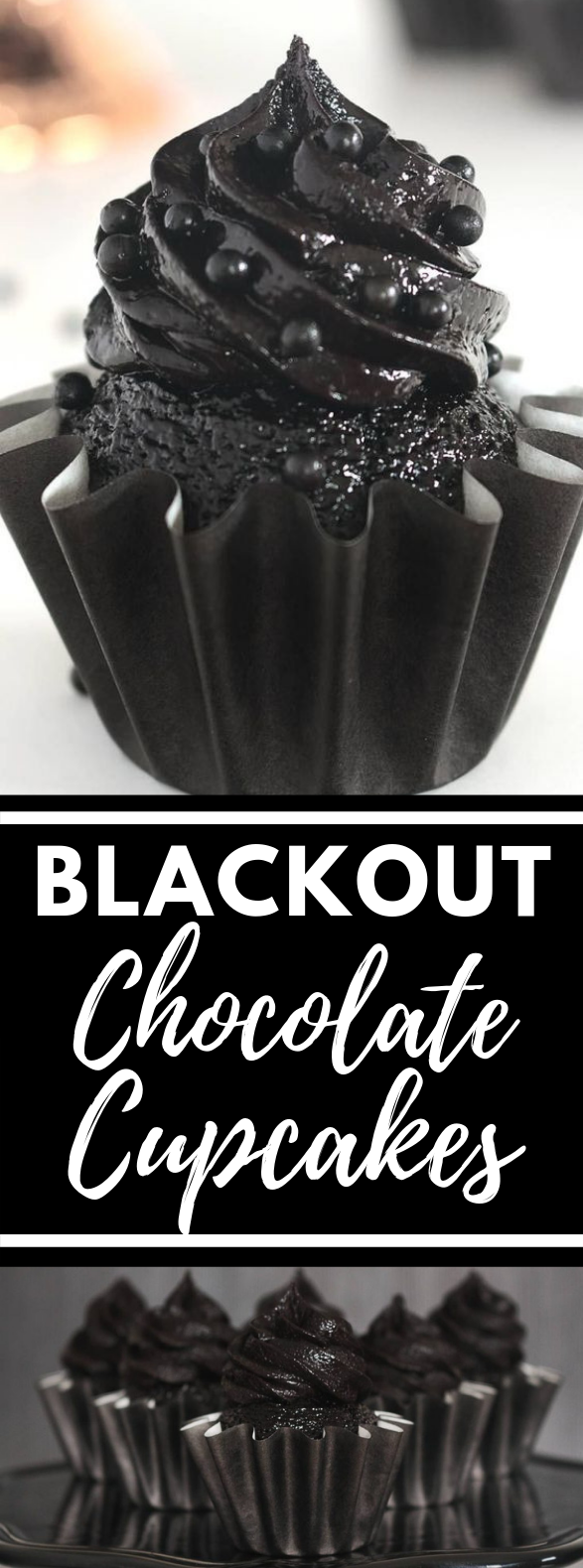 Blackout Chocolate Cupcakes and Blackout Frosting #blackchocolate #frostingrecipes